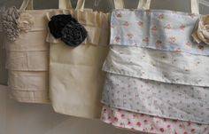DIY easy-sew bags. There are never enough bags. Use old clothing to be totally green.