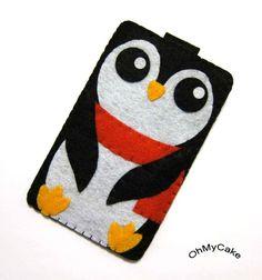 OMG! I need this! Penguin Felt iPhone case.