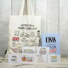Kit para ser feliz como una perdiz. A la venta en www.mrwonderfulshop.es #kit #mrwonderful #libro #tarjetas #bolsa