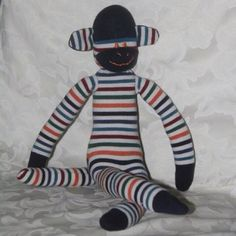 Soft toy made from socks - Monkey