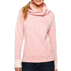 Xersion(TM) Cowlneck Sweatshirt ($20) ❤ liked on Polyvore