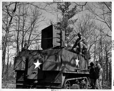 World War IIs ghost army.  500 lb. speakers played a collection of sound effects designed to fool the Nazi's.