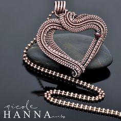 Wire Wrap Heart Copper Pendant