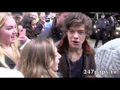 One Direction talks to our cameras while taking pictures with fans in New York City (11-15-12)