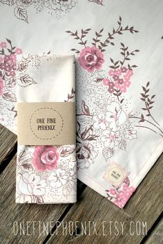 Pink floral zero waste handkerchief - upcycled fabric hanky - Eco friendly hankies - Pink and brown floral pocket square Eco Friendly Makeup, Paper Packaging, Paper Tape, Brown Floral, Cute Outfits For Kids, Zero Waste, Rustic Kitchen, Kitchen Decor, Closer