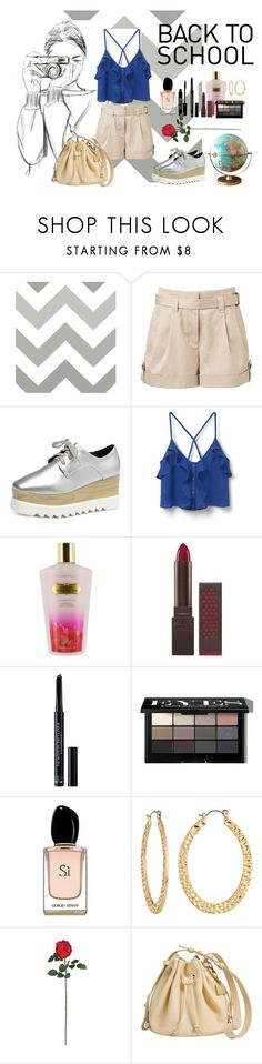 """back to school...with my rules"" by maria-herreross ❤ liked on Polyvore featuring Wall Pops!, Witchery, MANGO, Victoria's Secret, Burt's Bees, Christian Dior, Bobbi Brown Cosmetics, Lord & Berry, Armani Beauty and Fragments"
