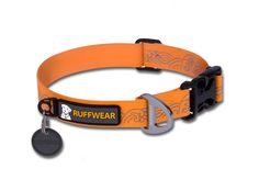 The coated webbing on the Ruffwear Headwater Collar is flexible, yet waterproof and non-absorbent - solving the wet, stinky dog collar problem!