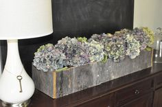 This blogger made her hydrangea box from old wood she had laying around...free! This looks pretty