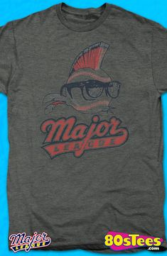 Logo Major League T-Shirt: Major League Mens T-Shirt Major League Geeks: Enjoy the comfort of home or travel the great outdoors in this men's style shirt that has been designed and illustrated with great art.