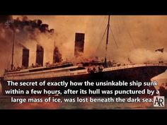 RMS TITANIC: 4-4-17. FIRE not ICE Sealed Her Fate - Sinking Mystery Solv...