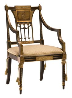 Italian Armchair  Traditional, Transitional, Upholstery  Fabric, Wood, Armchair by Decorative Crafts (=)