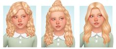 "naevys-sims: "" KIDS HAIR CONVERSION Many of you have asked for hair for kids, so here you go! There are 5 adult->kids conversions. ""Azure & Baddie & Autumn hair by Em hair by. Sims 4 Mods, Flat Twist Out, Twist Outs, Cornrows, Protective Styles, Beckham, Sims 4 Children, Sims 4 Characters, Sims 4 Toddler"
