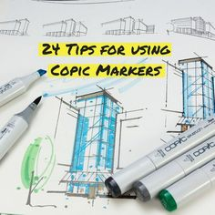 24 Tips for using Copic Markers Copic Marker Art, Copic Sketch Markers, Copic Art, Copics, Prismacolor, Plant Drawing, Alcohol Markers, Inspiration Art, Encouragement