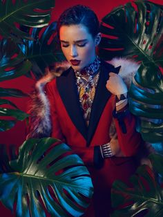 Robin Van Halteren by Cosimo Buccolieri in Jungle Mania for Factice Magazine Exclusive February 2016