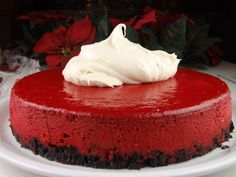 red velvet cheesecake, for Christmas or Valentine's day!