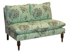 Skyline Furniture Mavericks Love Seat Loveseat Upholstered in Queen Anne's Lace Aqua Fabric by Skyline Furniture, http://www.amazon.com/dp/B003SLEFIQ/ref=cm_sw_r_pi_dp_uEgFpb05ZG6WW