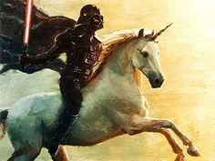 Star Wars Unicorn Darth Vader Parody Canvas - Star Wars Gift #starwars #canvasart #darthvader #art