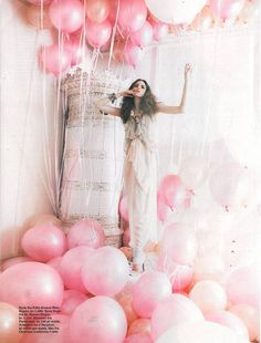 Heavenly. Polina Barbasova - The Balloon Girl (Baloon Photo Shoot)