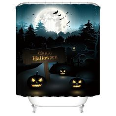 Halloween Night Theme Happy Halloween pumpkins Polyester Fabric Mildew Proof Waterproof Cloth Shower Room Decor Shower Curtains72Wx72L *** Remain to the item at the image web link. (This is an affiliate link). Halloween Night, Happy Halloween, Halloween Shower Curtain, Halloween Pumpkins, Shower Curtains, Room Decor, Link, Fabric, Image