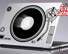 Technics DJ 1210 draaitafels Macbook Air Pro sticker Sticker 0125mac