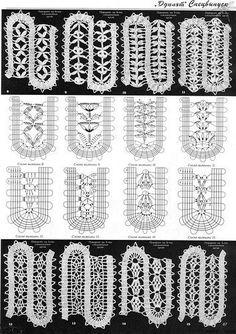 "Photo from album ""Коллекция узоров"" on Yandex. Crochet Diagram, Crochet Chart, Thread Crochet, Crochet Motif, Crochet Designs, Crochet Lace, Crochet Stitches, Bruges Lace, Russian Crochet"