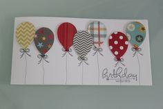 Geburtstag - Geburtstagskarte mit Ballons - ein Designerstück von Art-Card bei DaWanda