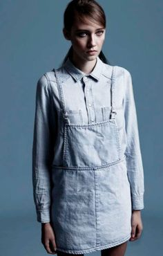 Denim Pinafore  by Unif. M
