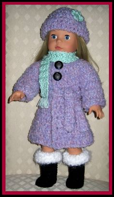 DOLL CLOTHES CROCHET PATTERN FITS 18 INCH AMERICAN GIRL 15