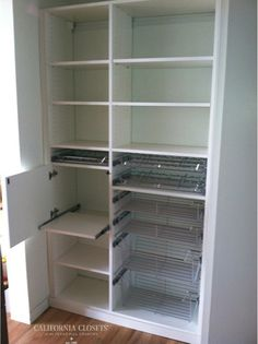 Functional and organized pantry design.