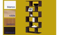 Estanterias de diseño moderno de 80cm X 191cm.Disponible en cuatro fántasticos colores. Estanterias prácticas.