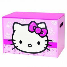 World Apart 474HLK - BAÚL JUGUETERO INFANTIL DE MADERA - Hello Kitty
