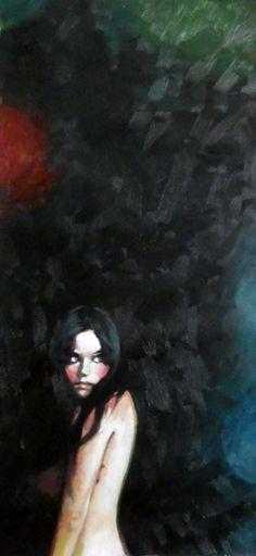 (Pinned by AshOkaConcept ॐ) - ©Thomas Saliot's painting ; Night girl