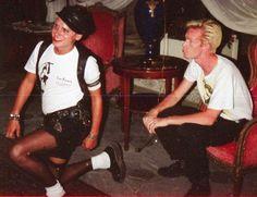 Martin Gore and Fletch of Depeche Mode