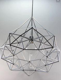 Diamond star Himmeli light pendant geometric silver by panselinos Pendant Lighting, Chandelier, Light Pendant, Straw Sculpture, Diy Straw, Silver Lamp, Diy Furniture Easy, Diy Canvas, Decor Interior Design