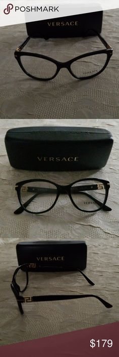 9718069136bb New Versace Eyeglasses New Authentic Versace 3205B eyeglasses! Beautiful  black frames with crystal accents!
