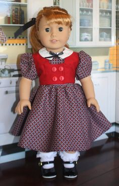 American Girl 1950s Weskit Dress in Purple and by RuthielovestoSew