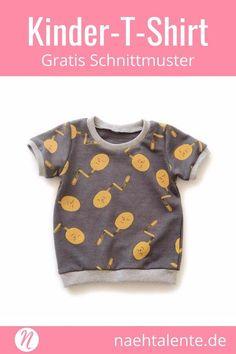 Freebook Kinder-T-Shirt kurzarm - kostenloses Schnittmuster zum selber nähen #nähen #freebook #schnittmuster #gratis #nähenmachtglücklich #freesewingpattern #handmade #diy