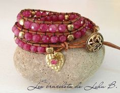 Product - Hand made beaded leather wrap bracelets