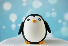 Penguin Figurine / Kawaii Chicken-Egg-Shaped Cake Topper / Collectible Toy by Naboko Studio