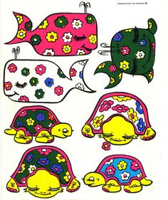 Logix Deco Stickers - Whales & Turtles - 1971 by JasonLiebig, via Flickr