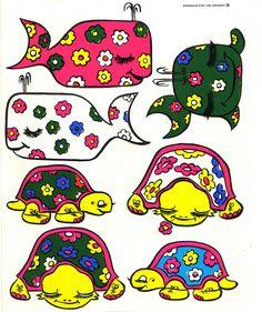 Logix Deco Stickers - Whales & Turtles - 1971 by JasonLiebig, via Flickr