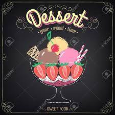 Resultado de imagen para pizarrones vintage para helados
