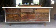 wood furniture by Fern Wood Furniture, Furniture Design, Wood Fern, Furniture Companies, Wood Veneer, Wood Design, Console Table, Credenza, Woodworking