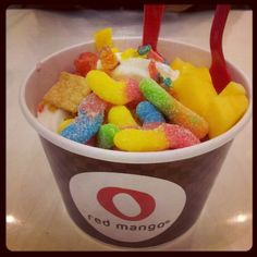 Red Mango Frozen Yogurt  #redmango #frozenyogurt #yogurt  #gummyworms  By @ohitsdeniseee