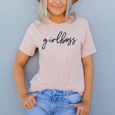 Girl Boss Cotton T Shirt