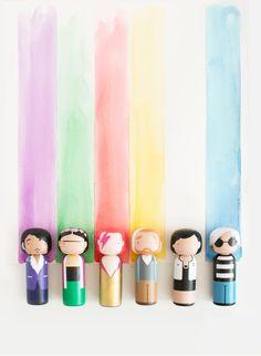 Rainbow - Sketch.inc Kokeshi Dolls