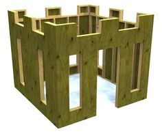 Cheap 4 wall, no floor plywood castle clubhouse