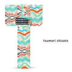 2016 Summer tsumori chisato Yukata Green Blue Ocean Waves