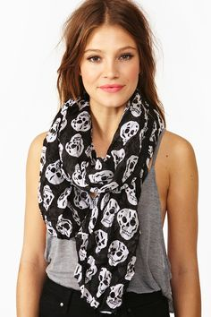Skull Scarf...need a fun new scarf for summer...maybe purple? Stripes? or some funky pattern?