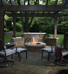 Fire ring and pergola